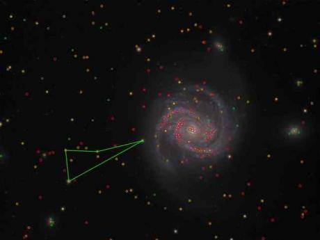 20 minutes - Galaxie M100 analysée par astrometry.net