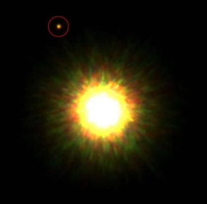 Une exoplanète photographiée : une grande première Exo01