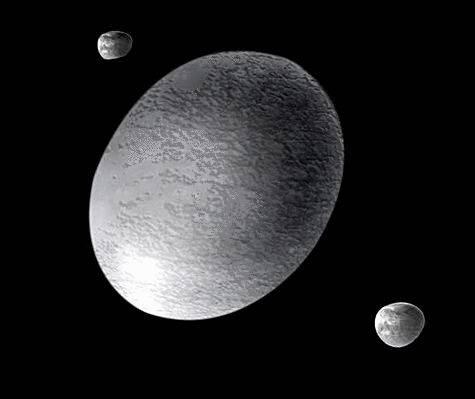 Planète Haumea représentée par un artiste