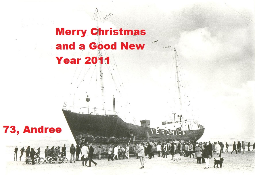 Pirate Radio QSL card - Andree