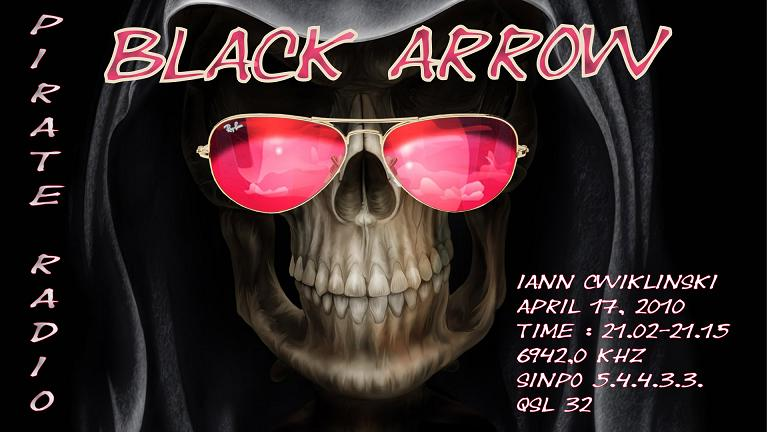 Pirate Radio QSL card - Radio Black Arrow