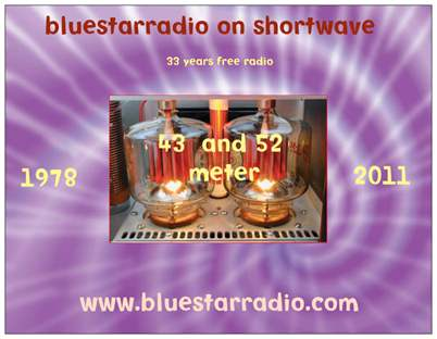 Pirate Radio QSL card - Bluestar Radio