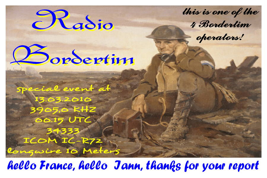 Pirate Radio QSL card - Radio Bordertim