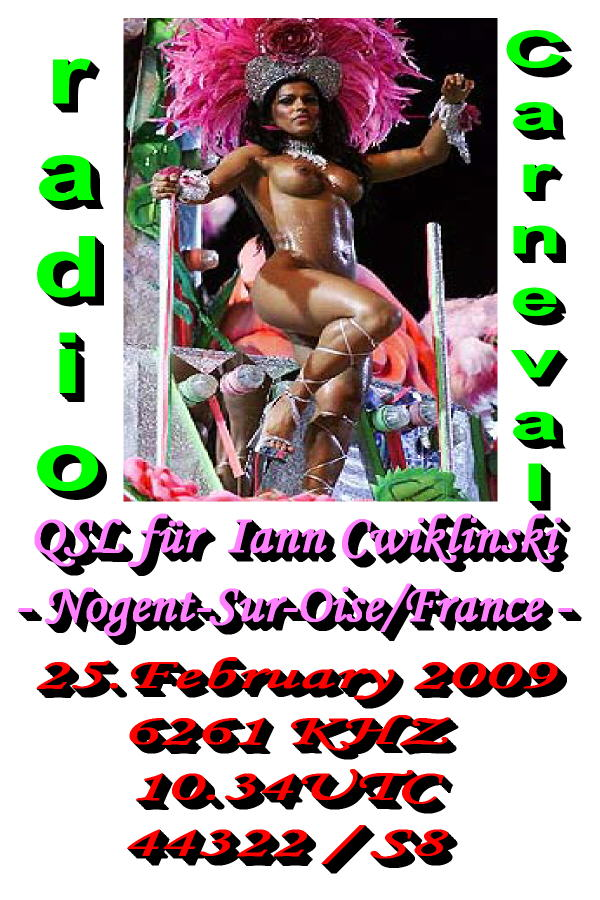Pirate Radio QSL card - Radio Carneval
