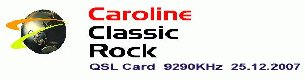 Pirate Radio QSL card - Radio Caroline Classic Rock