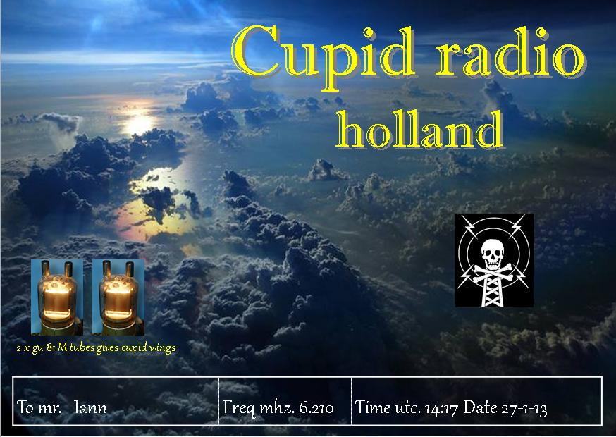 Pirate Radio QSL card - Cupid Radio