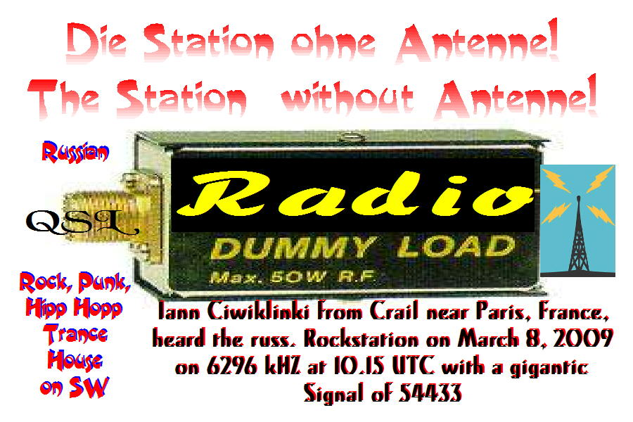 Pirate Radio QSL card - Radio Dummy Load