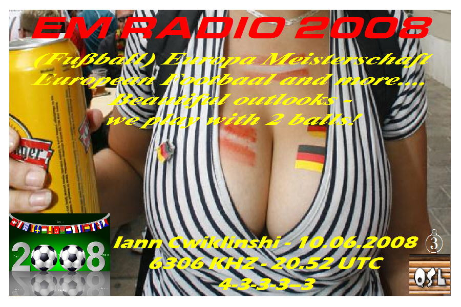 Pirate Radio QSL card - EM Radio 2008