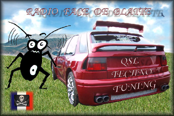 Pirate Radio QSL card - Radio Face de Blatte