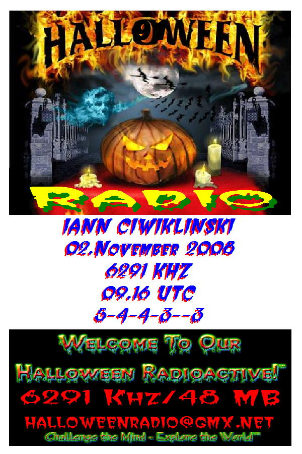 Pirate Radio QSL card - Halloween Radio