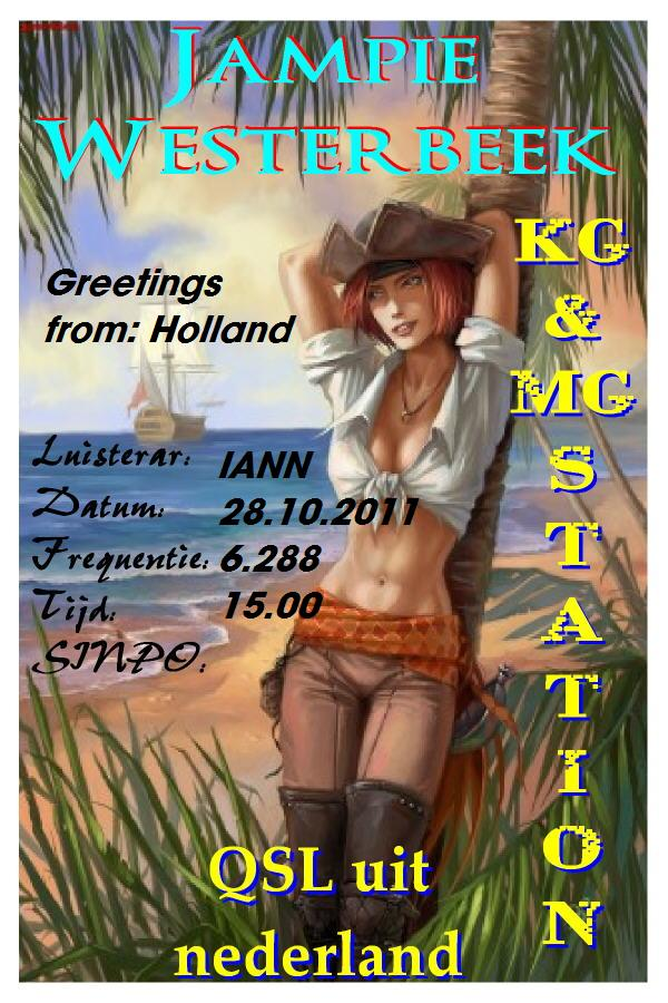 Pirate Radio QSL card - Radio Jampie Westerbeek