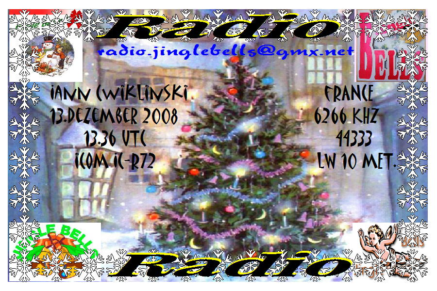 Pirate Radio QSL card - Radio Jinglebell