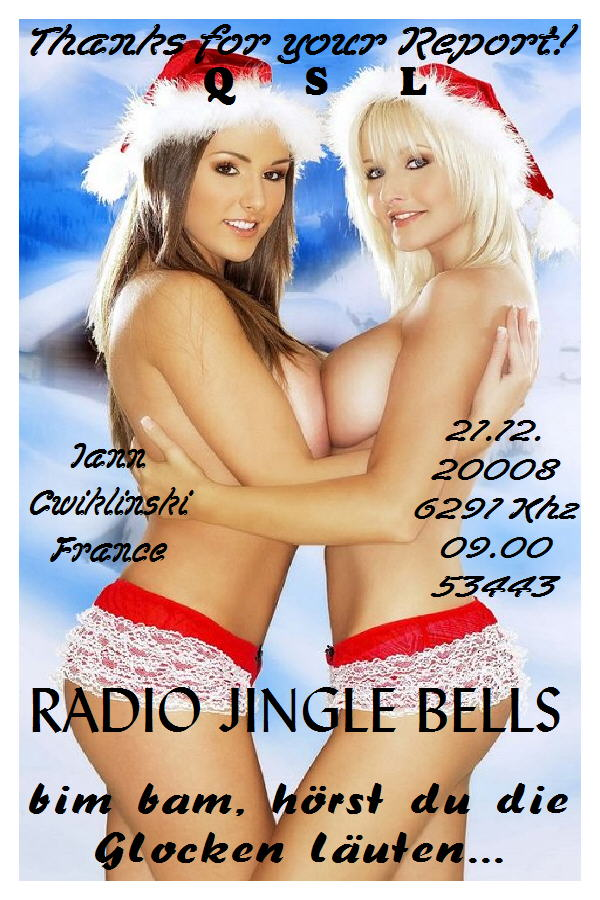Pirate Radio QSL card - Radio Jinglebells