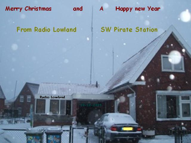 Pirate Radio QSL card - Radio Lowland