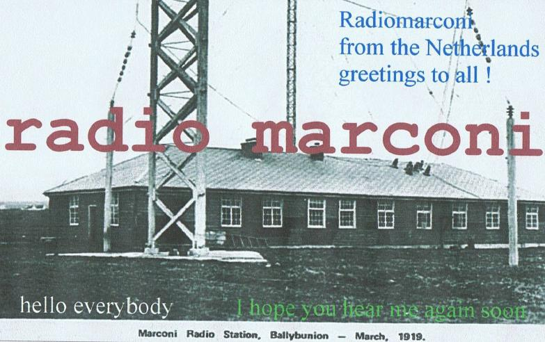Pirate Radio QSL card - Radio Marconi