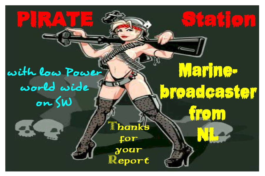 Pirate Radio QSL card - Marine Broadcaster