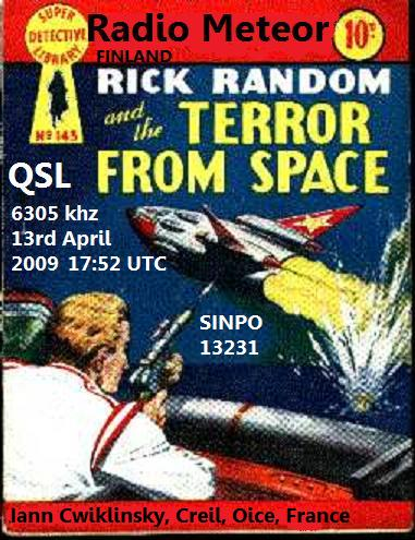 Pirate Radio QSL card - Radio Meteor