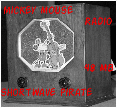 Pirate Radio QSL card - Radio Mickey Mouse