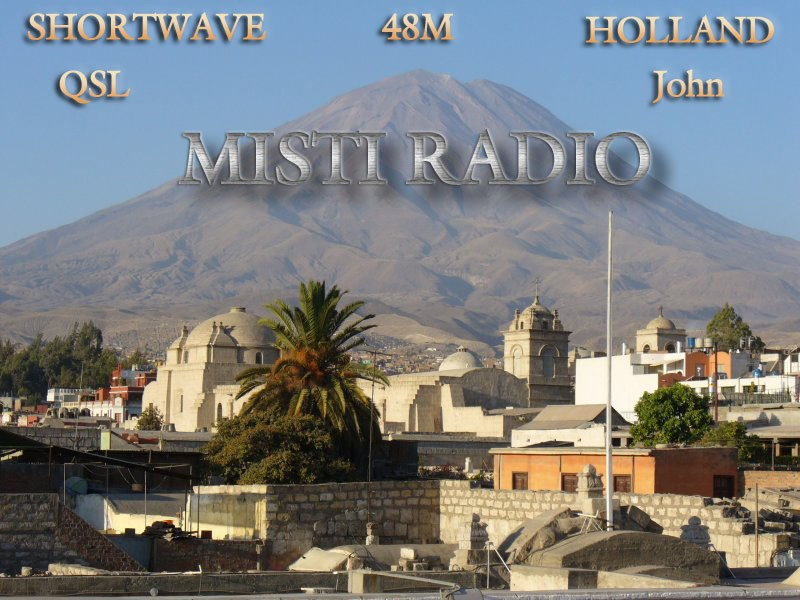 Pirate Radio QSL card - Misti Radio