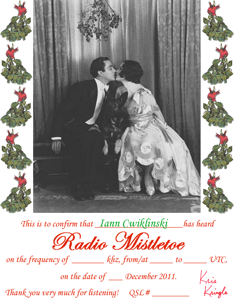 Pirate Radio QSL card - Radio Mistletoe