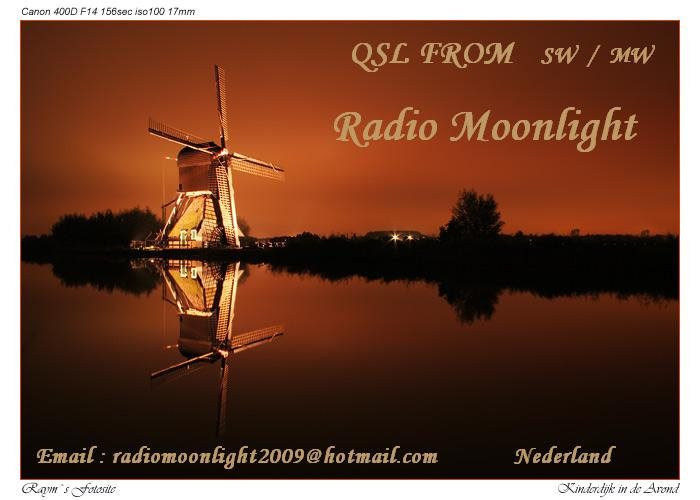 Pirate Radio QSL card - Radio Moonlight