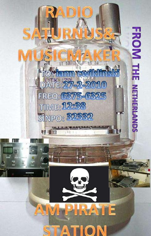 Pirate Radio QSL card - Radio Music Maker