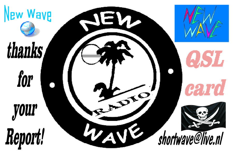 Pirate Radio QSL card - New Wave Radio