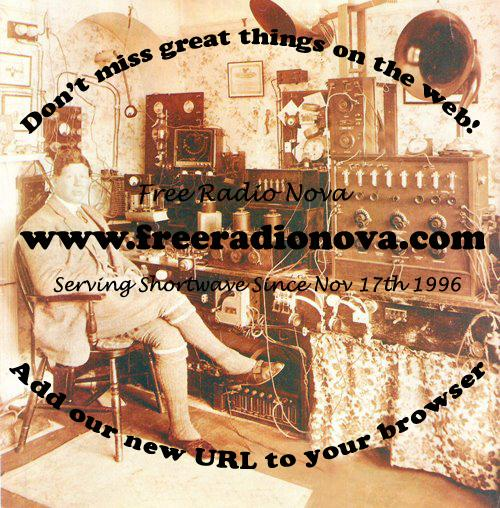 Pirate Radio QSL card - Radio Nova