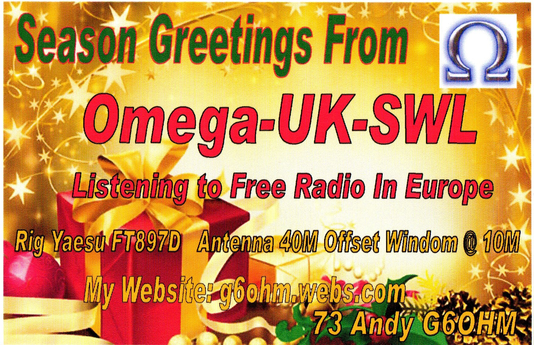 Pirate Radio QSL card - Omega
