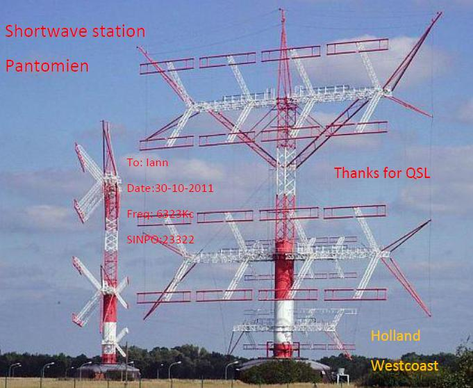 Pirate Radio QSL card - Radio Pantomien
