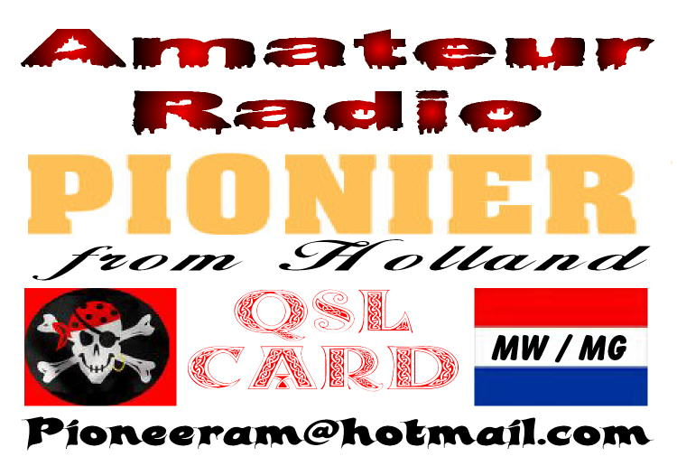 Pirate Radio QSL card - Radio Pionier