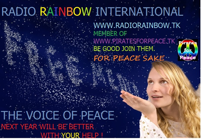 Pirate Radio QSL card - Radio Rainbow