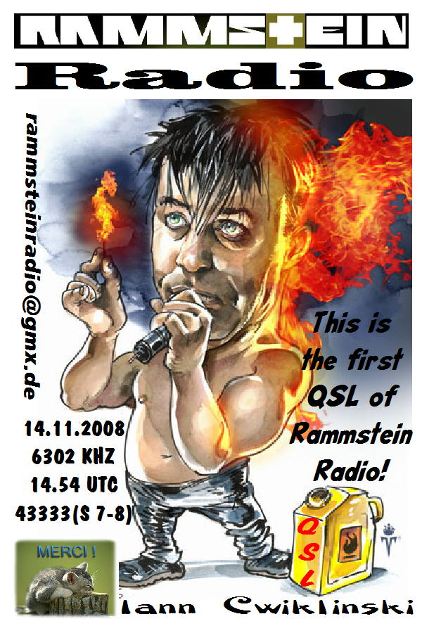 Pirate Radio QSL card - Rammstein Radio