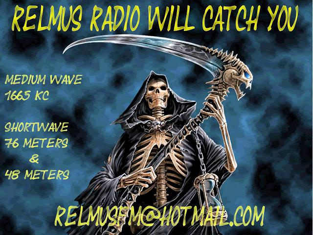 Pirate Radio QSL card - Relmus Radio