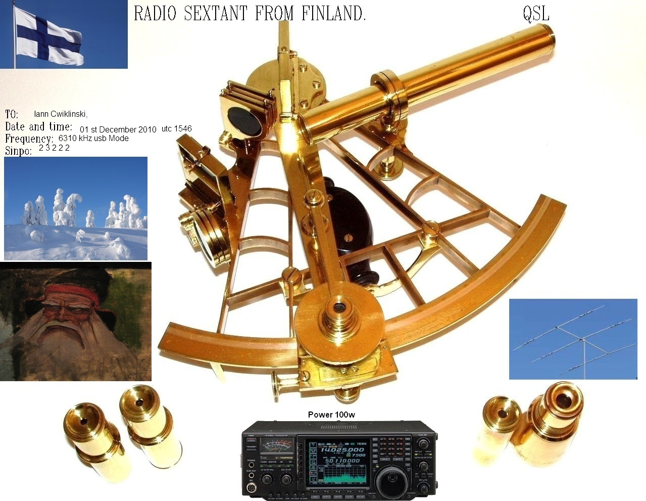 Pirate Radio QSL card - Radio Sextant