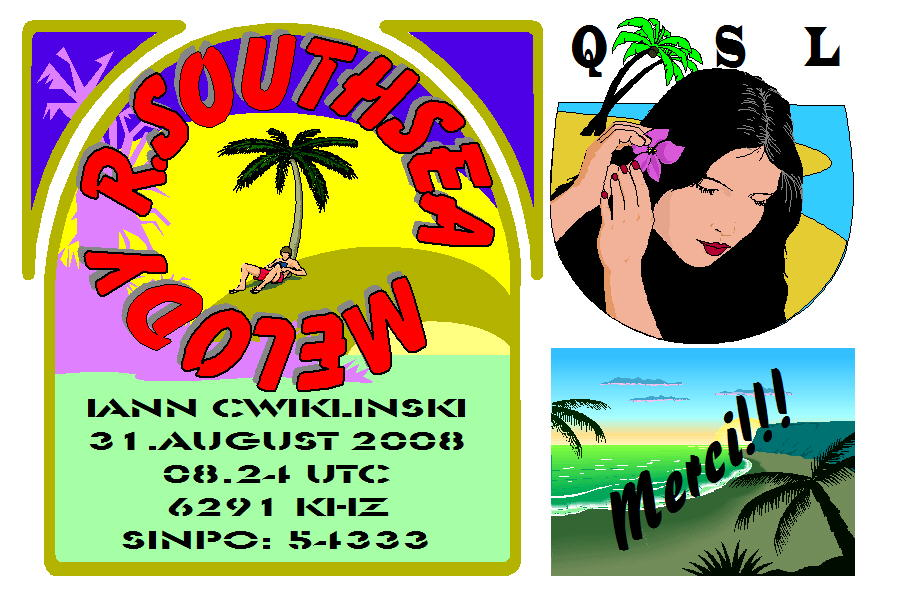 Pirate Radio QSL card - Radio Southsea Melody