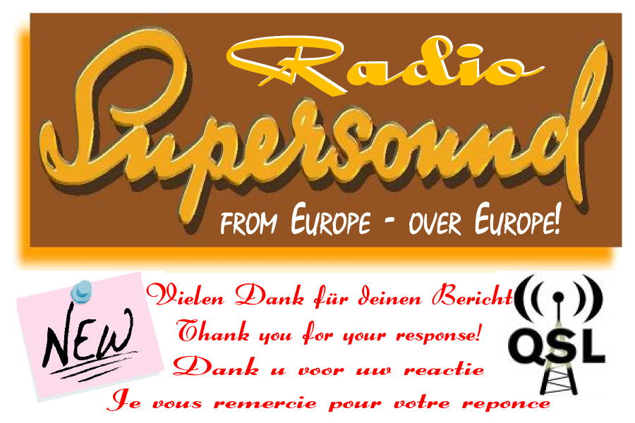 Pirate Radio QSL card - Radio Supersound