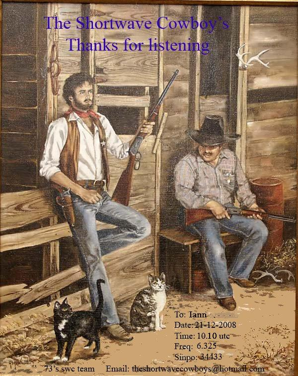 Pirate Radio QSL card - Shortwave Cowboys