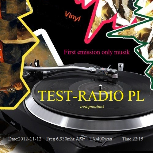 Pirate Radio QSL card - Test Radio