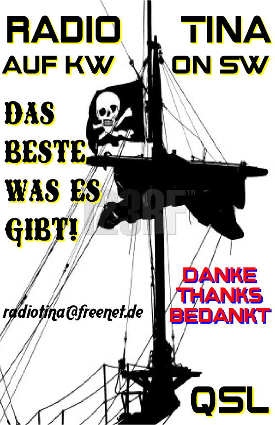 Pirate Radio QSL card - Radio Tina