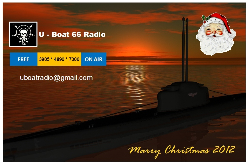 Pirate Radio QSL card - Radio U-Boat 66