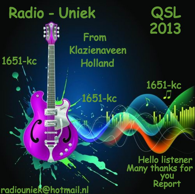 Pirate Radio QSL card - Radio Uniek