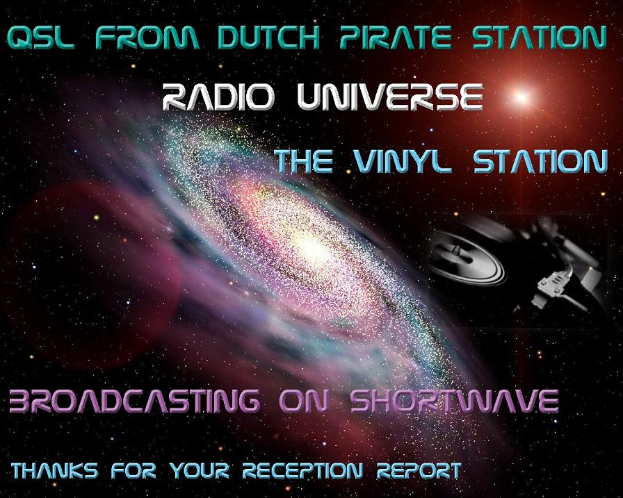 Pirate Radio QSL card - Radio Universe