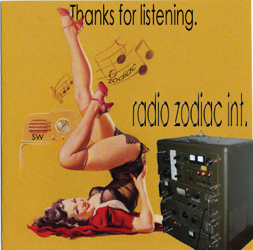 Pirate Radio QSL card - Radio Zodiac