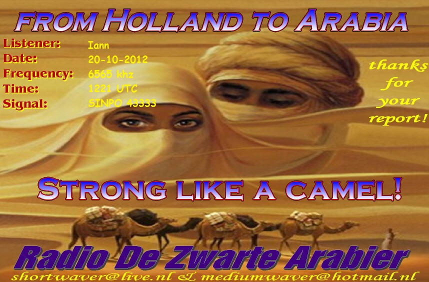 Pirate Radio QSL card - Radio Zwarte Arabier